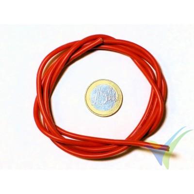 1m Cable de silicona rojo 1.31mm2 (16AWG), 252x0.08 venillas, 18.7g