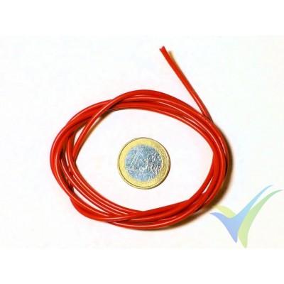 1m Cable de silicona rojo 0.82mm2 (18AWG), 150x0.08 venillas, 11g