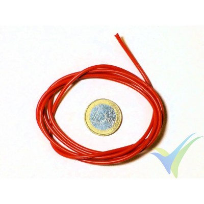 1m Silicone cable red, 0.82mm2 (18AWG), 150x0.08, 11g