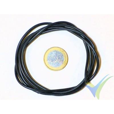 1m Cable de silicona negro 0.82mm2 (18AWG), 150x0.08 venillas, 11.2g