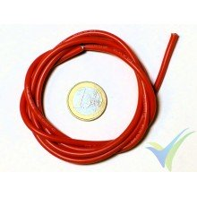 1m red silicone cable 2.08mm2 (14AWG), 400x0.08 strands, 27.6g