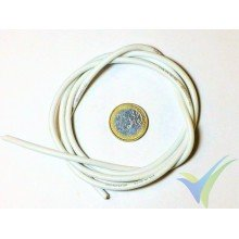 1m Cable de silicona blanco 2.08mm2 (14AWG), 400x0.08 venillas, 27.7g