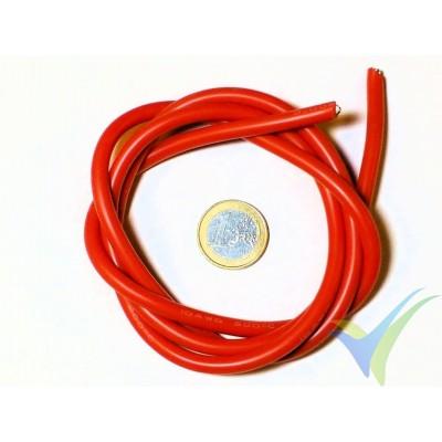 1m Cable de silicona rojo 5.26mm2 (10AWG), 1050x0.08 venillas, 71.8g