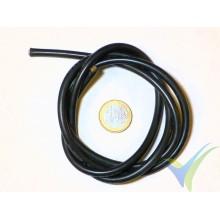 1m Cable de silicona negro 5.26mm2 (10AWG), 1050x0.08 venillas, 70.4g