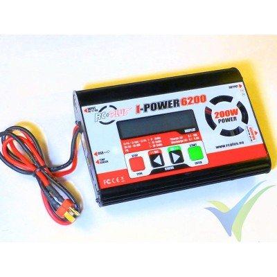 Cargador RC Plus I-Power 6200 - 200W