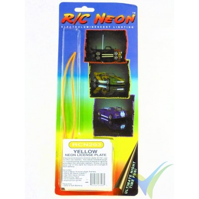Kit de matrícula luminosa RC Neon (amarillo)