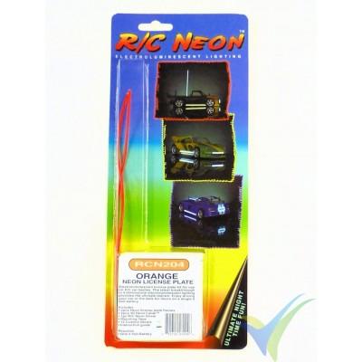 Kit de matrícula luminosa RC Neon (naranja)