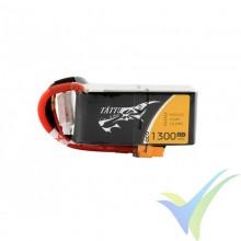 Batería LiPo Tattu - Gens ace 1300mAh (19.24Wh) 4S1P 45C 146g XT60