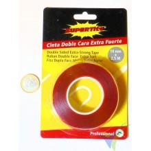 Cinta adhesiva doble cara Supertite 19mm x 2.5m, acrílica extra fuerte