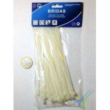 Bridas nylon blanco SR 3.6x150mm, 40 ud