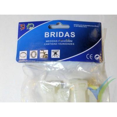 Bridas nylon blanco 7.5x400mm, 10 ud