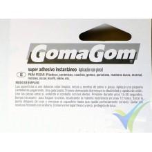 Adhesivo CA GomaGom 9 Super GOM, con pincel, 10g