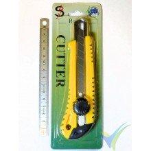 Cutter SR acero 18mm, con bloqueo por tornillo