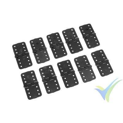 Bisagra de nylon mediana con eje de acero - 16x32mm - 10 unidades
