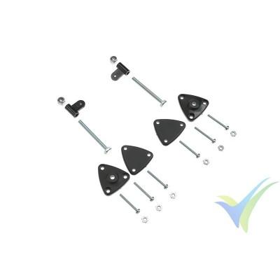 G-Force RC - Nylon Control Horn - Adjustable Through Fix - 2 pcs