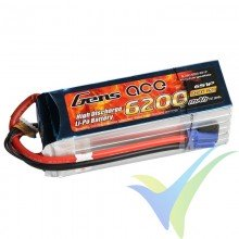 Gens ace 6200mAh (137.64Wh) 25C 6S1P 881.8g EC5 LiPo Battery Pack