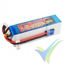 Gens ace 5500mAh (122.1Wh) 45C 6S1P 805g EC5 LiPo Battery Pack