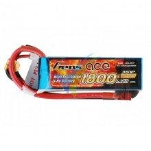 Batería LiPo Gens ace 1800mAh (19.98Wh) 3S1P 40C 163.2g Deans