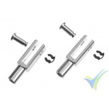 G-Force RC - Aluminium Clevis - Heavy Duty - M4 - 2 pcs