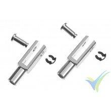 Kwik link aluminio G-Force con rosca M4, pasador 3mm, 2 uds