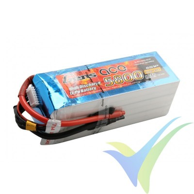 Batería LiPo Gens ace 5800mAh (128.76Wh) 6S1P 45C 856g