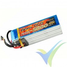 Gens ace 5000mAh (111Wh) 45C 6S1P 782g EC5 LiPo Battery Pack