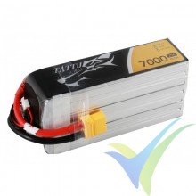 Tattu -Gens ace 7000mAh (155.4Wh) 25C 6S1P 907.5g XT90 LiPo Battery pack