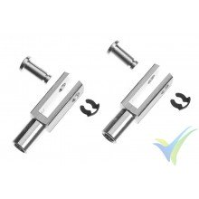 G-Force RC Aluminium Clevis Heavy Duty M3, 1.3g, 2 pcs