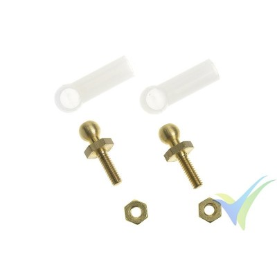 G-Force RC - Nylon Ball Link - M2 - Small - 2 pcs
