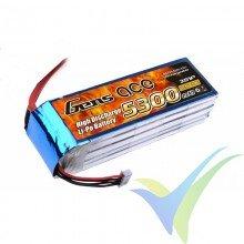 Gens ace LiPo Battery Pack 5300mAh (58.83Wh) 3S1P 30C 415g Deans