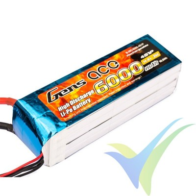 Batería LiPo Gens ace 6000mAh (88.8Wh) 4S1P 35C 593.5g EC5