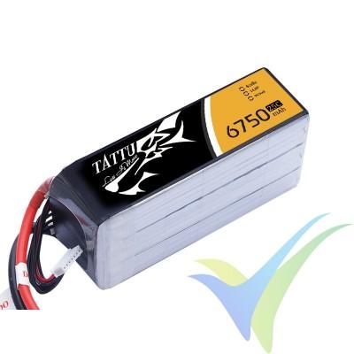 Batería LiPo Tattu - Gens ace 6750mAh (99.9Wh) 4S1P 25C 605g XT90