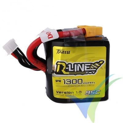 Batería LiPo Tattu R-Line - Gens ace Square 1300mAh (19.24Wh) 4S1P 95C 162.5g XT60