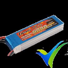 Gens ace LiPo Battery Pack 5000mAh (55.5Wh) 3S1P 45C 418g Deans