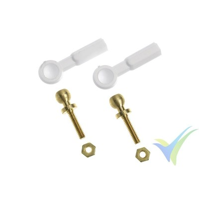G-Force RC - Nylon Ball Link - M2 - Large - 2 pcs