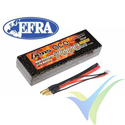 Batería LiPo Gens ace HardCase 10 aprobada EFRA 7000mAh (51.8Wh) 2S2P 50C 316g Deans
