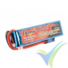 Batería LiPo Gens ace 4000mAh (88.8Wh) 6S1P 45C 613g EC5