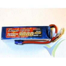 Gens ace 5000mAh (111Wh) 60C 6S1P 808g EC5 LiPo Battery Pack