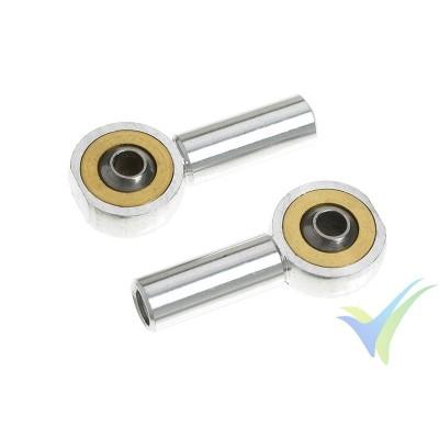 G-Force RC - Aluminium Ball Link - Inner thread M3 - Ball for M2 Screws - 2 pcs