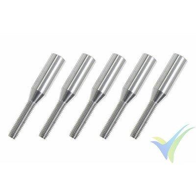 Adaptador quick link rosca M3, para varilla de carbono 4mm - 5 unidades