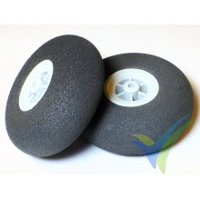 Multiplex foam wheel 733201, 55mm, 5.2g, super light foam, 2 pcs