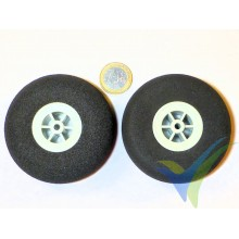 Multiplex foam wheel 733202, 73mm, 10.9g, super light foam, 2 pcs