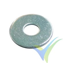 M4 Flat wide washer, zinc-plated steel, DIN-9021, 1 pc