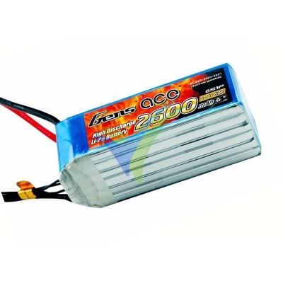 Batería LiPo Gens ace 2600mAh (57.72Wh) 6S1P 60C
