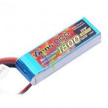 Gens ace LiPo Battery 1800mAh (13.32Wh) 2S1P 40C 111.9g Deans