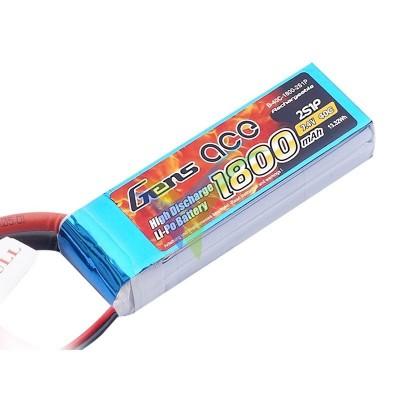 Batería LiPo Gens ace 1800mAh (13.32Wh) 2S1P 40C 111.9g