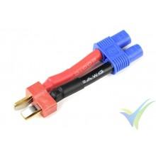 Adaptador de conector Deans macho a EC3 hembra, cable silicona 3.31mm2 (12AWG)