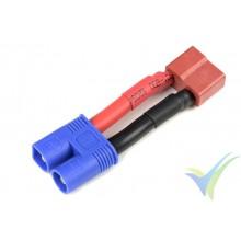 Adaptador de conector Deans hembra a EC3 macho, cable de silicona 3.31mm2 (12AWG)