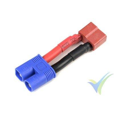 Adaptador de conector Deans macho a EC3 hembra - cable de silicona 3.31mm2 (12AWG)