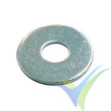 M3 Flat wide washer, zinc-plated steel, DIN-9021, 1 pc